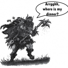 What do fantasy characters eat?